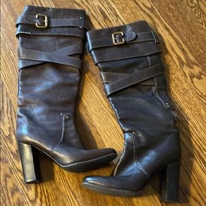 Chloe brown tall boots